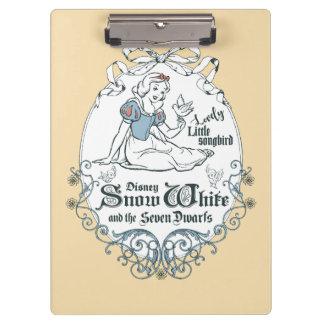 Snow White | Lovely Little Songbird Clipboard