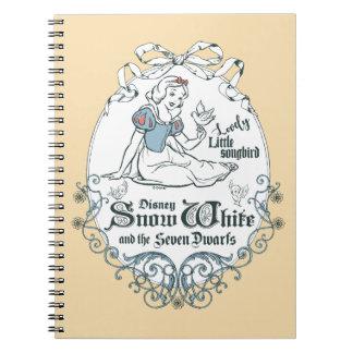Snow White   Lovely Little Songbird Notebook