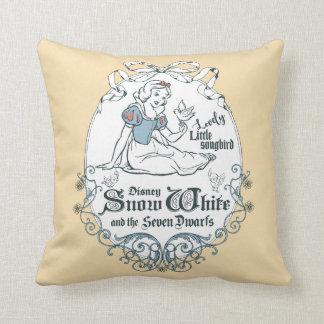 Snow White   Lovely Little Songbird Throw Pillow