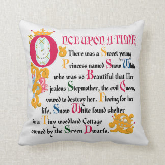 Snow White   Once Upon A Time Throw Pillow