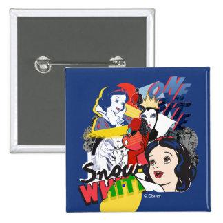 Snow White | One Bite 2 Inch Square Button