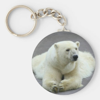 Snow White Polar Bear Keychain