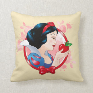 Snow White | Red Apple And Bow Throw Pillow