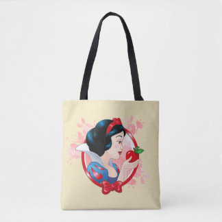 Snow White | Red Apple And Bow Tote Bag