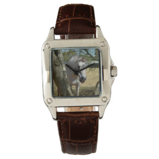 Snow White The Horse, Ladies Brown Leather Watch