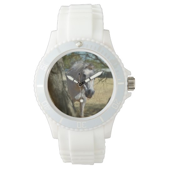 Snow White The Horse, Ladies White Sports Watch