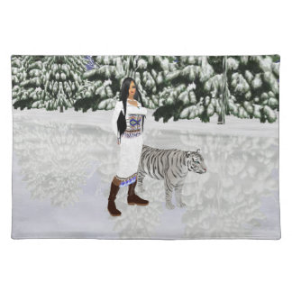 Snow White Tiger Placemat