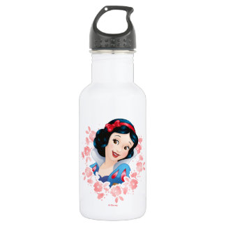 Snow White | Watercolor Floral Frame 532 Ml Water Bottle