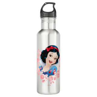Snow White | Watercolor Floral Frame 710 Ml Water Bottle