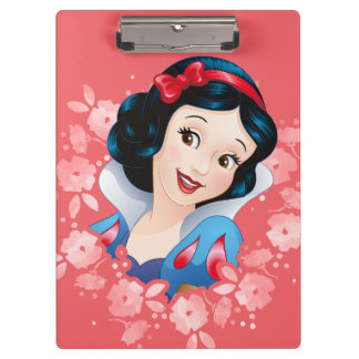Snow White | Watercolor Floral Frame Clipboard