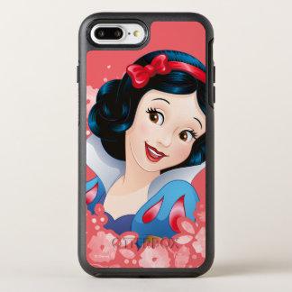 Snow White | Watercolor Floral Frame OtterBox Symmetry iPhone 8 Plus/7 Plus Case