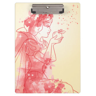 Snow White | Watercolor Outline Clipboard