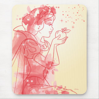Snow White | Watercolor Outline Mouse Pad