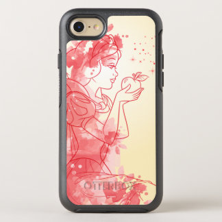 Snow White | Watercolor Outline OtterBox Symmetry iPhone 8/7 Case