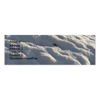 snow white winter skinny card business card templates
