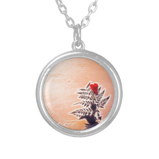 Snow will never kill my Rose Silver Plated Necklace