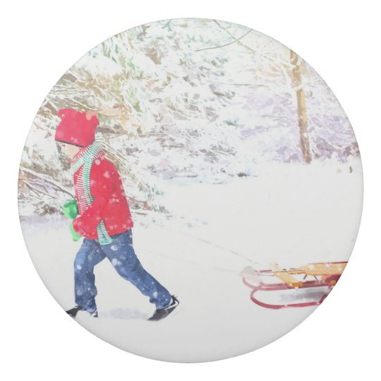 Snow winter sled boy christmas holidays eraser