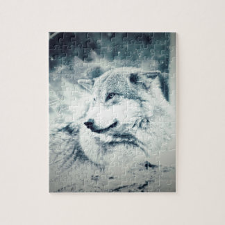Snow Wolf... Jigsaw Puzzle
