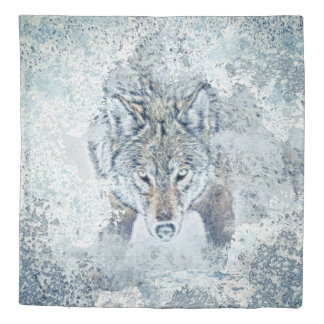 Snow Wolf Queen Size Duvet Cover