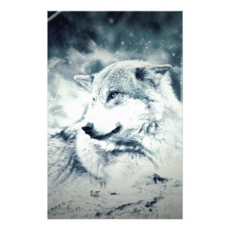 Snow Wolf... Stationery