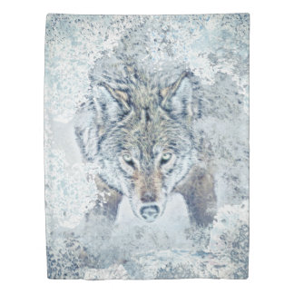 Snow Wolf  Twin Size Duvet Cover