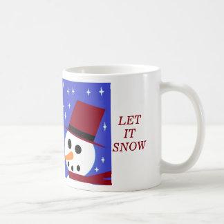 SNOW WOMAN SNOW MAN SNOW PEOPLE 'LET IT SNOW' MUGS