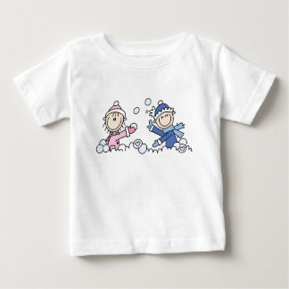 Snowball Fight Baby T-Shirt