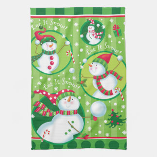 Snowball Fight Kitchen Towel