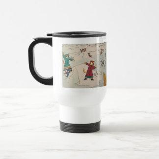 Snowball Fight Travel Mug