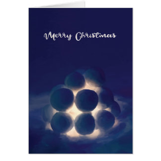 Snowball Lantern Christmas Card