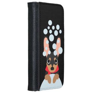 Snowball Miniature Pinscher Dog iPhone 6 Wallet Case
