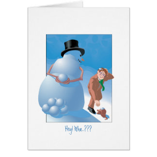 Snowball Surprise Greeting Card