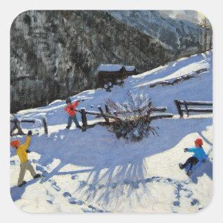 Snowballers Zermatt Square Sticker