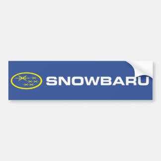 Snowbaru (blue & yellow) Bumper Sticker