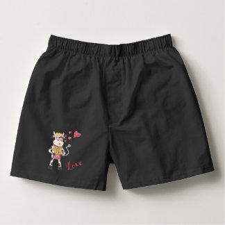 Snowbell in love men black boxers