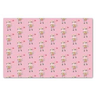 Snowbell in love pink tissue paper