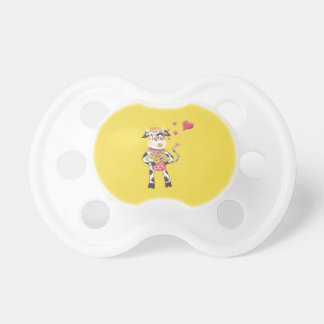 Snowbell in love - Valentine's Day baby pacifier