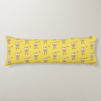 Snowbell in love yellow body pillow