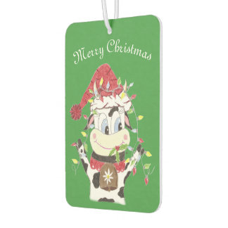 Snowbell the cow & the Xmas light air freshener