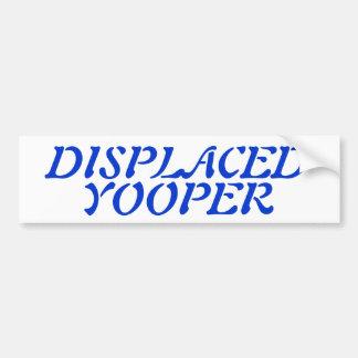 Snowbirds Displaced Yooper Blue Txt Bumper Sticker
