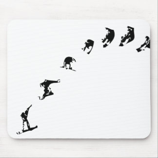 Snowboard 360 mouse pad