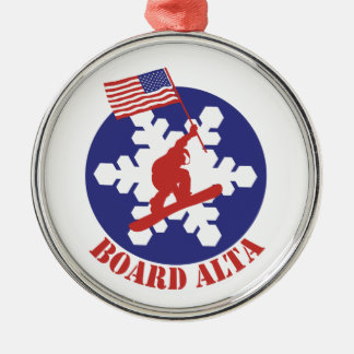 Snowboard Alta Metal Ornament