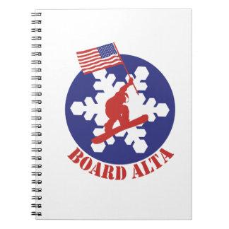 Snowboard Alta Spiral Notebook