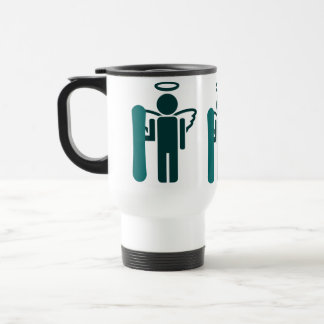 snowboard angel travel mug