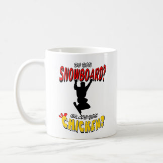 SNOWBOARD CHICKEN 2 COFFEE MUG