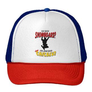 SNOWBOARD CHICKEN 2 TRUCKER HAT