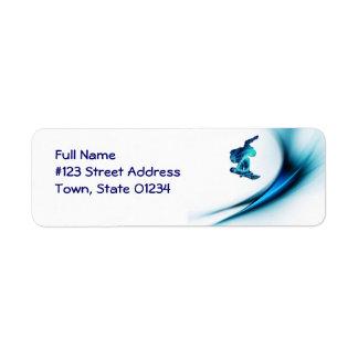 Snowboard Design Mailing Label Return Address Label