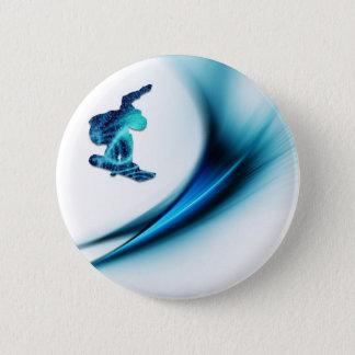 Snowboard Design Round Button
