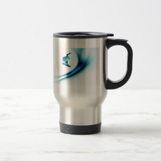 Snowboard Design Stainless Travel Mug