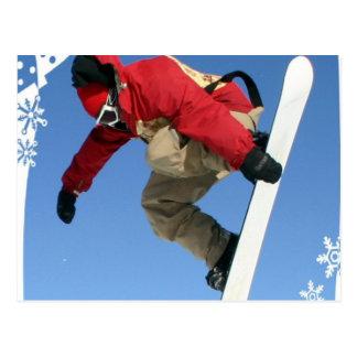 Snowboard Grab Postcard
